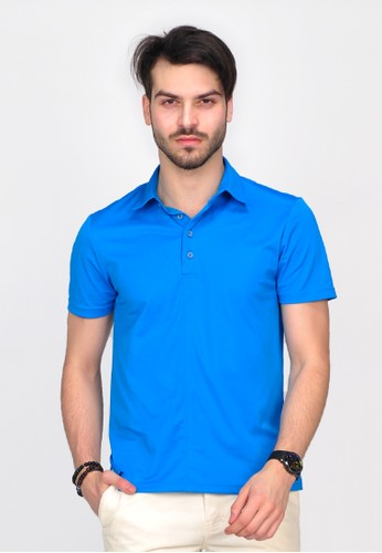 SIMPAPLY's Grimmer Blue Men's Polo-Shirt