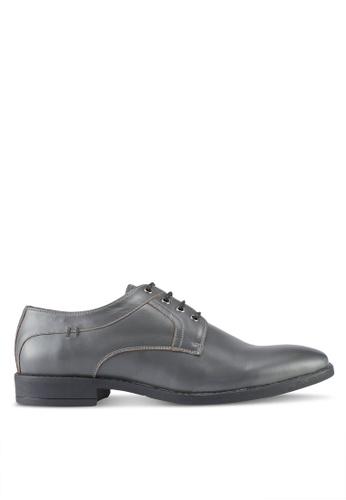ACUTO grey Leather Dress Shoes AC283SH0SL6WMY_1