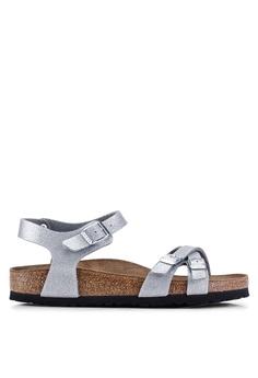 d10fe58f697 Birkenstock silver Kumba Magic Galaxy Soft Footbed Sandals  2B13DSH3EBF5F6GS 1