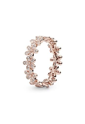 PANDORA silver Pandora Daisy Flower Ring 4D641AC9811579GS_1