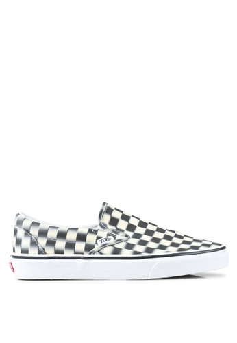 48aa5c1b3d VANS black and white Blur Check Slip-Ons E8E26SH69472DFGS 1