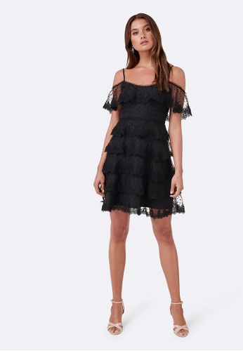 Forever New black Lydia Polka Ruffle Dress 41DAFAA2AB50B2GS_1