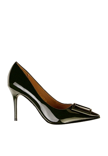Twenty Eight Shoes 綠色 方形裝飾扣高跟鞋 VL17851 B85C5SHDB83D1FGS_1