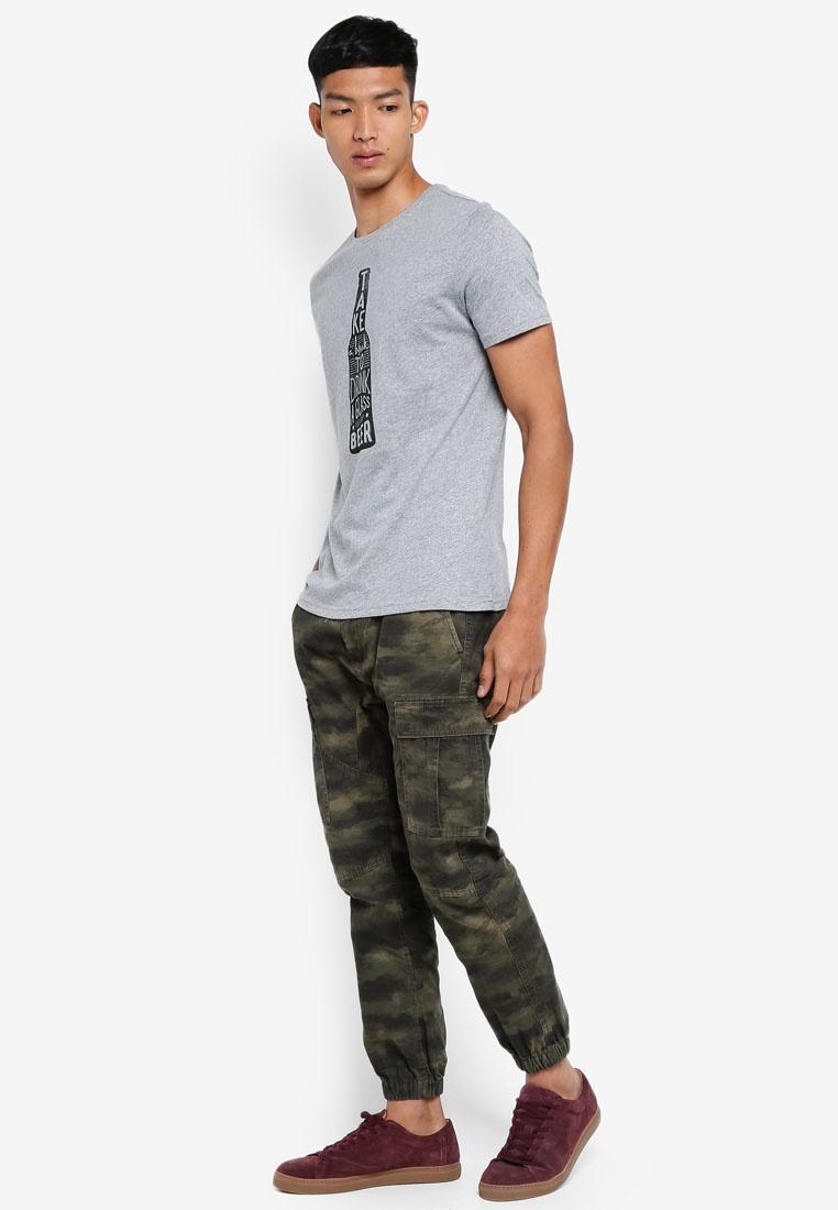 Grey T Melange Shirt Graphic OVS Light Yxnwp7RSq8