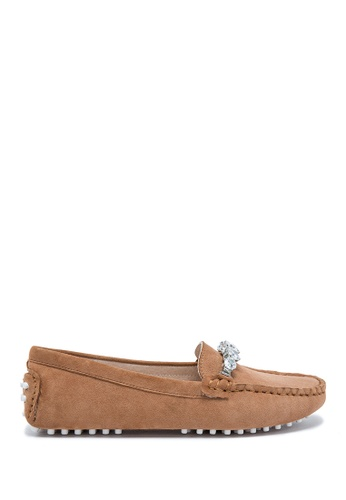 PAZZION Suede Loafer PA624SH0RE2YMY_1