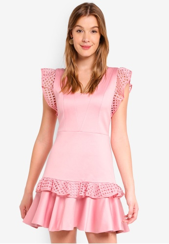 Forever New pink Kady Lace Trim Dress 01A40AACFF8AE0GS_1