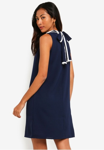 ZALORA BASICS navy Basic Dress With Contrast Piping 0CD6FAA485F668GS_1