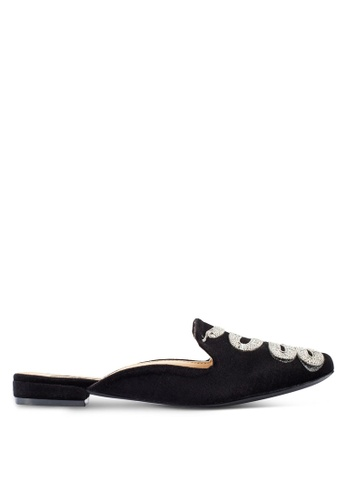 a39ace8ee0f Shop Nose Snake Embellished Low Heel Mules Online on ZALORA Philippines