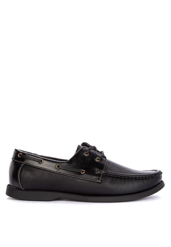 Itti black Lace up Boat Shoes 4D06ESH62985D4GS_1