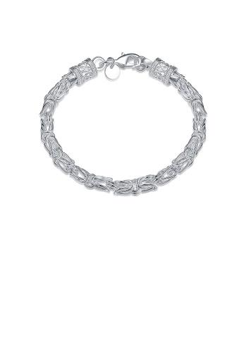 Glamorousky silver Fashion Simple Faucet Bracelet C7C5FACA7CE8E7GS_1