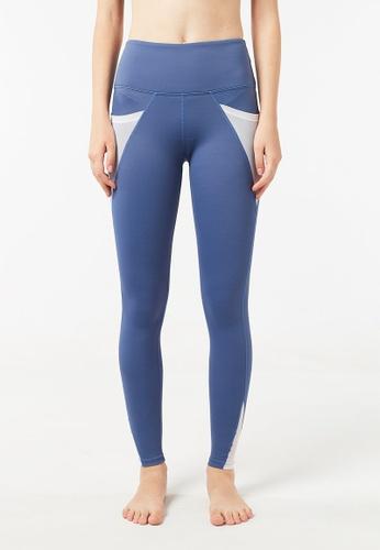 FUNFIT blue Intensity High Waisted Side-Pocket Mesh Leggings (Heather Blue) 7131CAAB5BD1FEGS_1