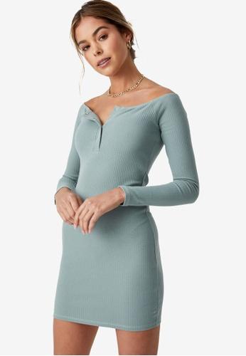 Supre green Pia Buttoned Mini Dress 92644AA6BCCCADGS_1