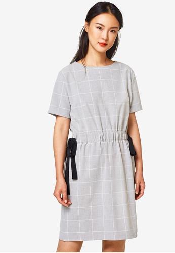 ESPRIT grey Light Woven Midi Dress 1DFD1AA84E3343GS_1