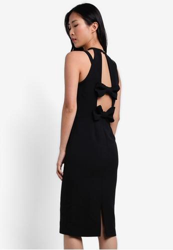 River Island black Bow Back Dress RI009AA0S73GMY_1