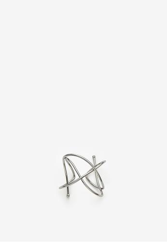 MONDAY EDITION silver Tangled Wire Bangle 671C8AC594E479GS_1