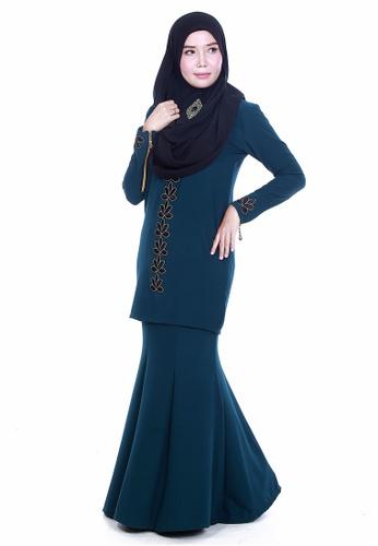 Farosa Kurung Deandra Emerald Green from Farosa in Green