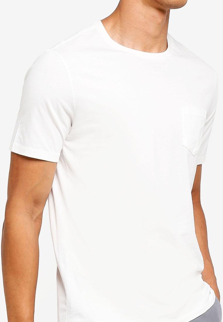 Neck GAP T Off Crew New White Shirt Pocket 7p6OZq
