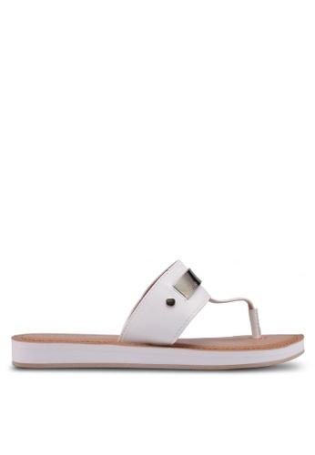 ALDO white Etedda Sandals 6F1CFSH8C5B2D8GS_1