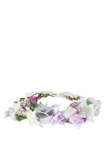 Saturation purple Lavender Love Flower Crown C7F69AC67F3E2AGS_1