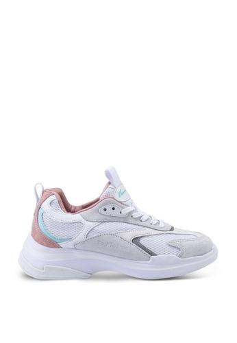 Kolca white and pink and green Kolca Mishmash Sneakers 00A24SH7BEA0CBGS_1