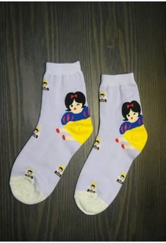 Snow white (Long) - Korean Socks