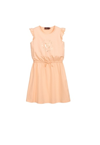 AIGNER KIDS orange AIGNER GIRLS DRESS 72E39KA1FA1BBAGS_1