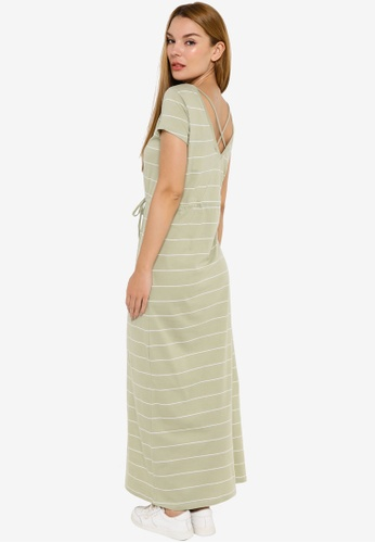 ONLY green May Life Short Sleeve String Maxi Dress ED19AAA9C3D343GS_1