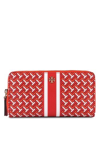 TORY BURCH red T Zag Zip Continental Wallet (NT) 40FA8AC4F2B408GS_1