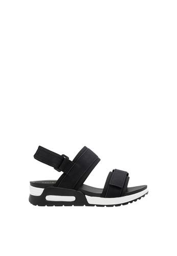 SEMBONIA black Women Synthetic Leather Flat Sandal 54635SH776AB5DGS_1