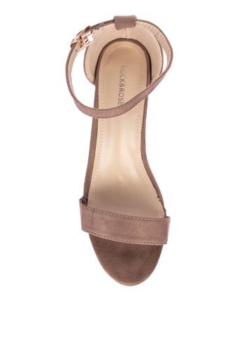 9beb3630eb4 Shop Rock Rose Suede Block Heel Sandals Online on ZALORA Philippines
