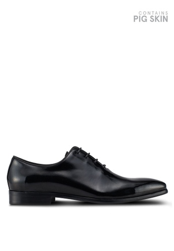 Dune London black Piano Patent Wholecut Shoes 4991FSH08CEA3EGS_1
