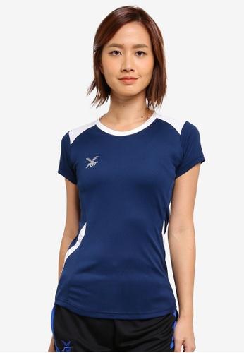 FBT white and navy Sports Tee D071DAA03DBDF7GS_1
