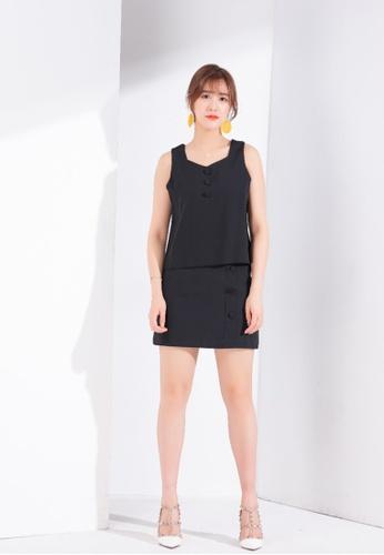 Zafiti black 2 Piece Set - Blouse and Skirt 29F7CAA7DB2D3DGS_1