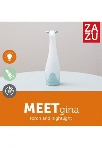 Zazu blue [Zazu] Rechargeable Torch with 7 Colors Night Light, Gina the Giraffe, Blue - 3years+ A37A2HL9608470GS_1