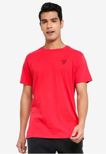 GUESS red Logo Organic Basic Tee 4D57BAA80E040AGS_1