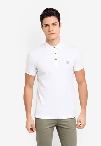 BOSS white Passenger Polo Shirt - Boss Casual 882E6AA840E008GS_1