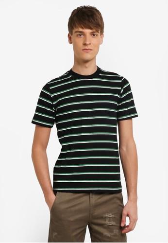 Flesh IMP black Stripple Stripe T-shirt FL064AA0RN9WMY_1