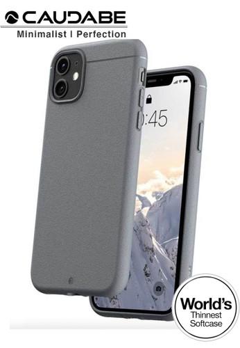 "Caudabe grey Case iPhone 11 6.1"" - Caudabe Sheath Softcase Slim Casing - Gray B5982ES6F2B60CGS_1"