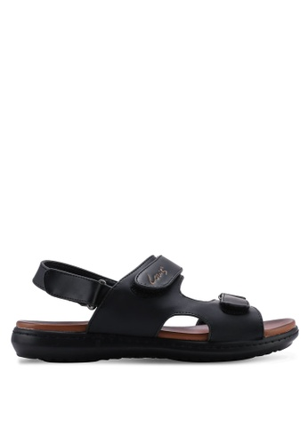Louis Cuppers black Velcro Sandals BC81FSH622CBC0GS_1