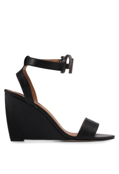 Zalora / Strappy High Wedges / BLACK