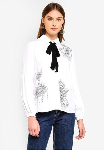 Desigual white Birma Shirt D5A98AAE44AFA9GS_1