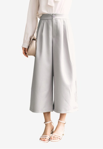Tokichoi grey Paperbag Culottes 2CE39AAAD47295GS_1