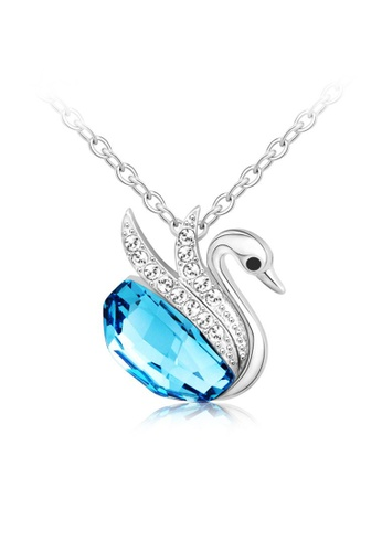 OUXI blue OUXI Beloved Swan Necklace (Ocean Blue) OU821AC76RGPMY_1
