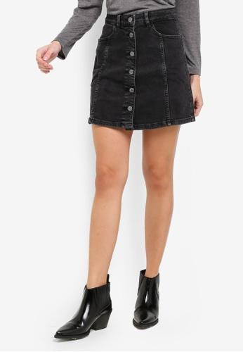 e7a81097b Shop Mango Buttoned Denim Skirt Online on ZALORA Philippines