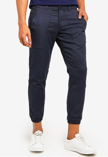 ESPRIT 海軍藍色 Woven Regular Pants B8892AAE0D812DGS_1