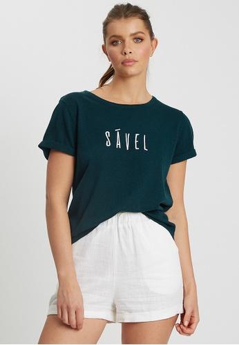 Savel green Savel Logo Tee 71245AAE896DCAGS_1