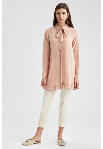 DeFacto pink Long Sleeve Viscose Tunic 9FD97AA08B0002GS_1