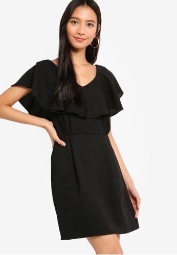 ZALORA black Ruffles Sleeves Sheath Dress C8983AADB31305GS_1