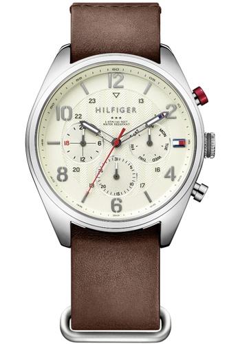 Tommy Hilfiger brown Tommy Hilfiger Parchment Men's Watch (1791188) 86C56AC2600DB5GS_1