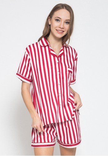 Pajamalovers red Haraa Red Lines F64A3AAF6D8097GS_1